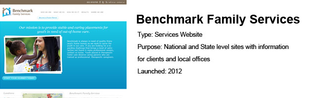 Benchmark Family Services – UX / Project Management