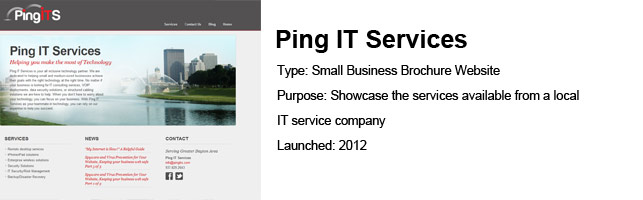 Ping IT Services – UX / Project Management
