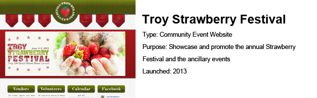 Troy Strawberry Festival – UX / Project Management