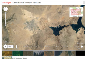 Las Vegas 1984 - Google's Timelapse Mapping Project