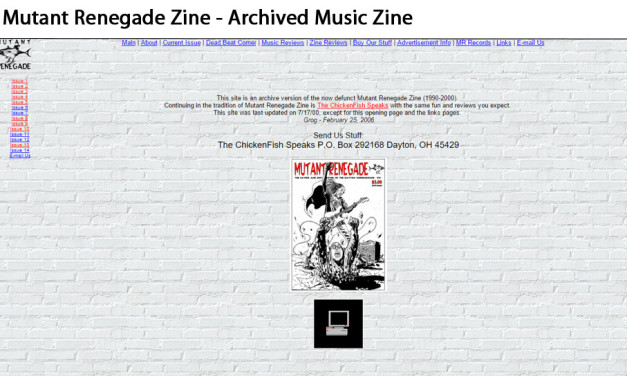 Mutant Renegade Zine – Informational (Archive)