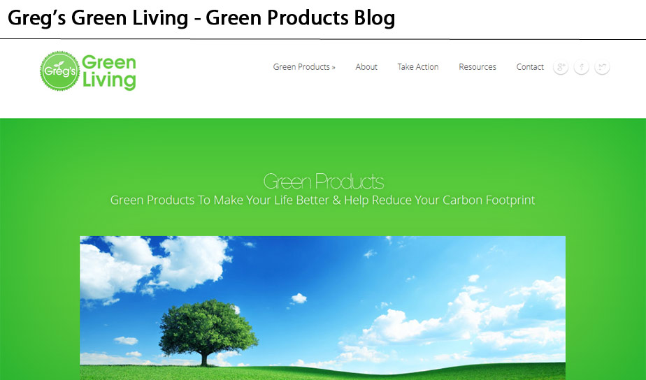 Greg's Green Living Website