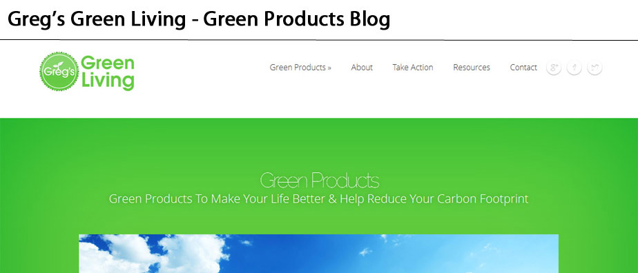 Greg's Green Living - Articles & Products for Living a Greener Life